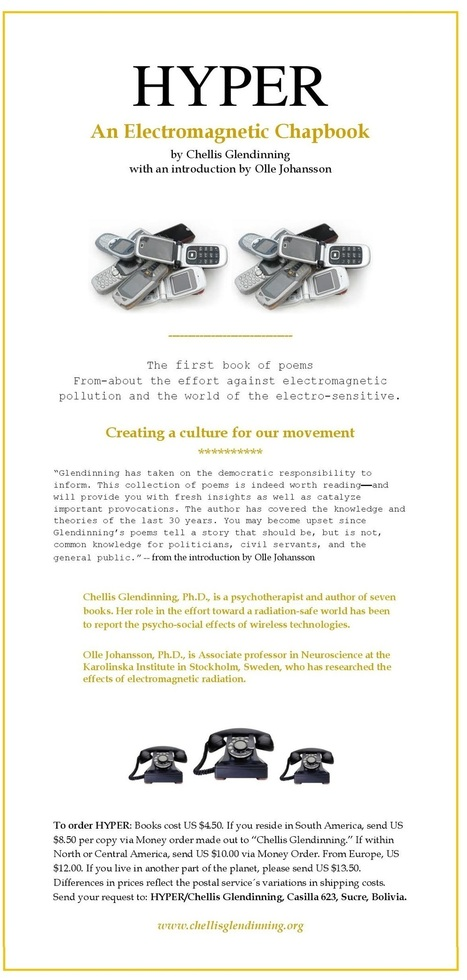 The First Book of Poetry About The Fight Against Electromagnetic Pollution by Chellis Glendinning, Ph.D., With Introduction by Olle Johansson, Ph.D. | electromagnetichealth.org | Integrative Medicine | Scoop.it