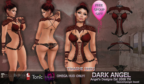 Tinashe GroupGift [Red] | 亗 Second Life Freebies Addiction & More 亗 | Scoop.it