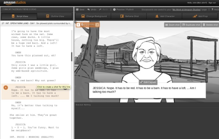 Amazon launches Storyteller to turn scripts into storyboards -- automagically | Machinimania | Scoop.it