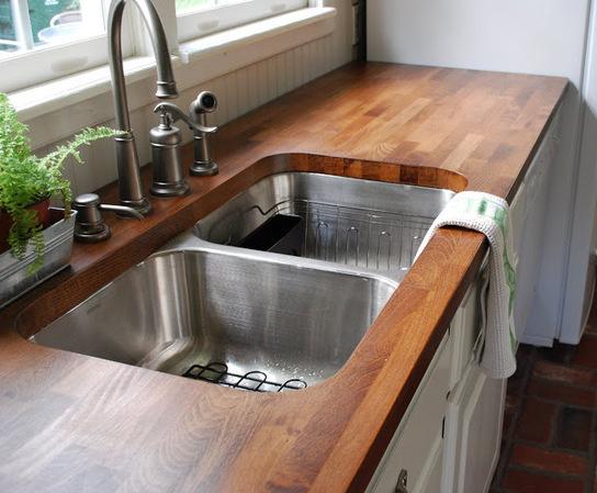 Piano cucina in legno lamellare
