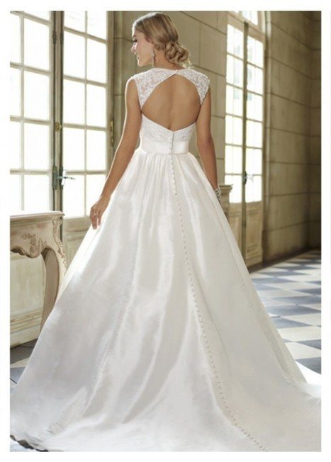 2015 Straps A-Line Taffeta Bridal Wedding Dress | Fashion Dresses | Scoop.it
