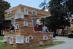 Reflection-In-Action: Architecture students design and build kiosk for StudioPercussion   DESARTSONNANTS - CRÉATION SONORE ET ENVIRONNEMENT - ENVIRONMENTAL SOUND ART - PAYSAGES ET ECOLOGIE SONORE   Scoop.it
