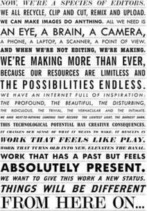 This manifesto for visual culture fromRencontres...   Developing Writers   Scoop.it