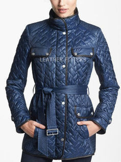 Quilted Women Leather Fall Trench Coat | Contrast Women Leather Fall Trench Coat | AUTUMN FALL FOR WOMEN | Scoop.it