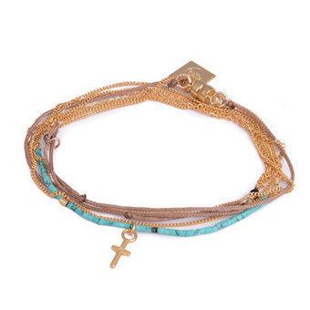 Collier/Bracelet wrap Turquoise Femme Dafné sur comptoirdesfilles.com - Comptoir des Filles | Comptoir des Filles | Scoop.it