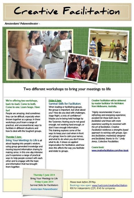 F-Act - Inschrijving Creative Facilitation workshops June 2014   Art of Hosting   Scoop.it