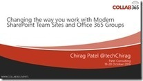 Changing the way you work with Modern SharePoint Team Sites and Office 365 Groups #Collab365 | Sharepoint 2013 FR - OFFICE 365 - YAMMER | Scoop.it