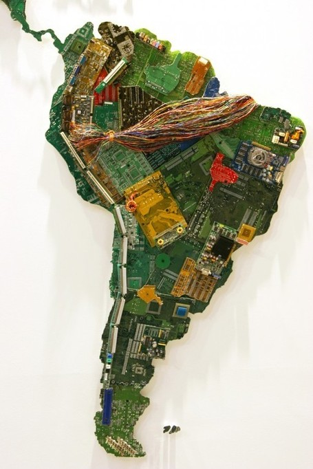 World Map Made from Recycled Computers | AP HUMAN GEOGRAPHY DIGITAL  TEXTBOOK: MIKE BUSARELLO | Scoop.it