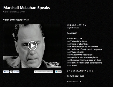 Marshall McLuhan Speaks — Introduction by Tom Wolfe | Video for Learning | Scoop.it