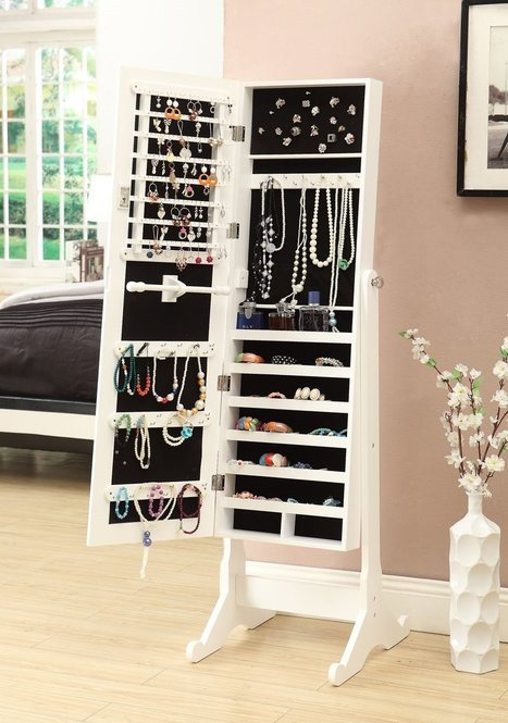 White Jewelry Armoire with Mirror | TwitterGlitter | Scoop.it