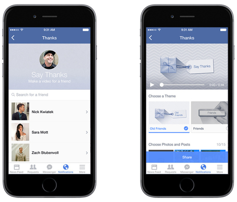 Facebook launches a tool for sending personalized thank you videos | Social Media 101 | Scoop.it