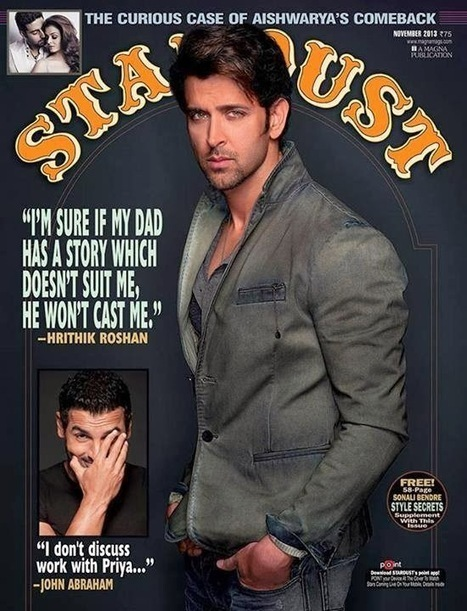 Hrithik Roshan Magazine Cover - Stardust November 2013 - 99share.in | Photoshoot | Scoop.it