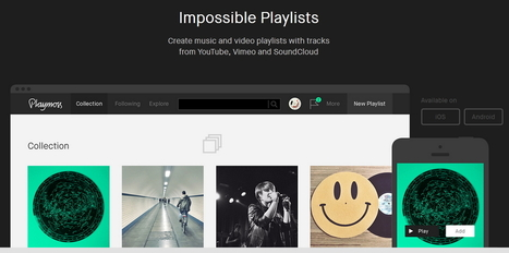 Playmoss Creates Playlists from YouTube, Vimeo and SoundCloud | Le Top des Applications Web et Logiciels Gratuits | Scoop.it