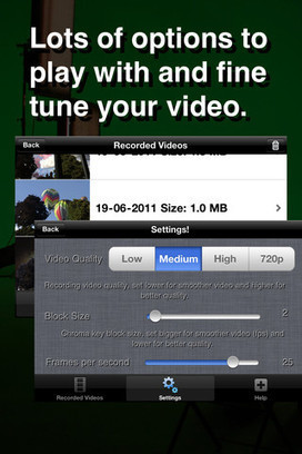 Green Screen Movie FX for iPhone 3GS, iPhone 4, iPhone 4S, iPod touch (4th generation), iPad 2 Wi-Fi and iPad 2 Wi-Fi + 3G on the iTunes App Store