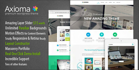 Axioma Premium Responsive WordPress Theme (Business) Download | Earning With Adsense | Scoop.it