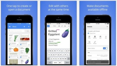 One Month After Microsoft Office Hits iPad, Google Debuts Dedicated Productivity Apps For iOS | TechCrunch | Mobile (Post-PC) in Higher Education | Scoop.it