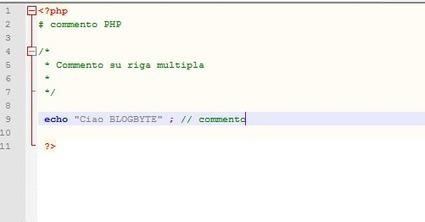Commenti e sintassi di base PHP   Blog Byte   BlogByte   Scoop.it