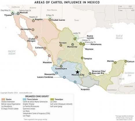 The Geography of Mexican Drug Cartels | Univers géographique (geographical universe) | Scoop.it