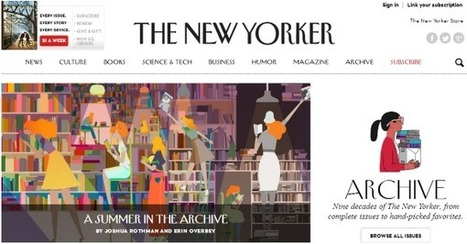 #recomiendo. La revista The New Yorker pone su archivo online disponible de forma gratuita | LOS 40 SON NUESTROS | Scoop.it