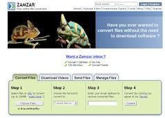 Convertir les fichiers en 100 formats différents grace à Zamzar