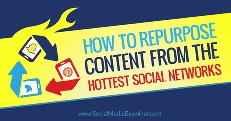 How to Repurpose Content From the Hottest Social Networks : Social Media Examiner | Social Media Power | Scoop.it