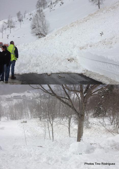 Encore des avalanches, une voiture finit dans un ravin à Azet, dimanche | Vallée d'Aure - Pyrénées | Scoop.it