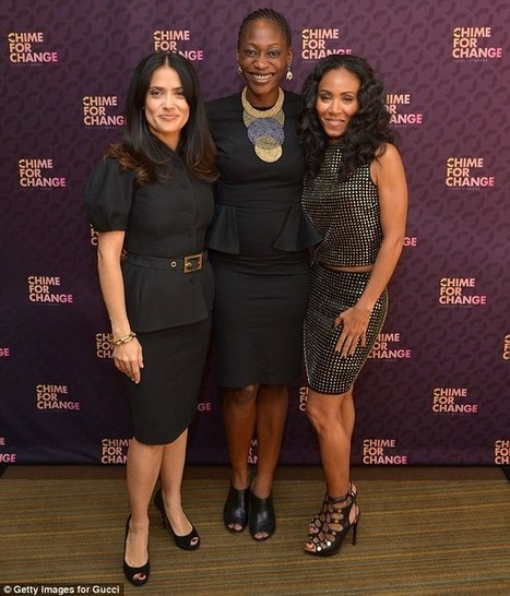 Girl power! Jada Pinkett Smith supports Salma Hayek as she launches Gucci's women's empowerment movement Chime for Change   Fashion   Scoop.it