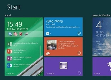 Microsoft experiments with making Windows Live Tiles interactive | ZDNet | Microsoft | Scoop.it
