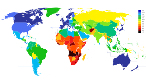 A world map of average life expectancy by country. How does your nation rank? | Amazing Science | Scoop.it