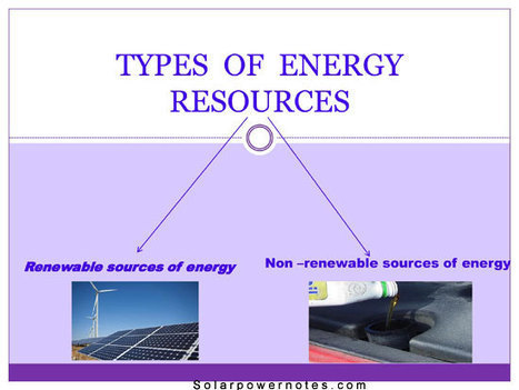 Types of energy sources - Energy types | Types of energy sources | Scoop.it