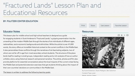 """Lesson Plans Connect Students to """"Fractured Lands"""" 