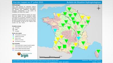 Situation des nappes d'eau souterraine au 1er juillet 2015 | Montagne - Environnement - Biodiversité - Climat | Scoop.it