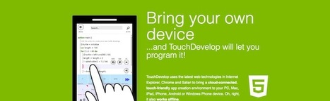 TouchDevelop - Une application web pour s'initier au développement | Time to Learn | Scoop.it