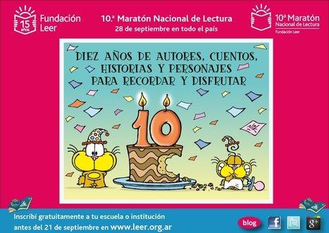 10° Maratón Nacional de Lectura - Argentina   Bibliotecas Escolares Argentinas   Scoop.it