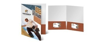 Presentation Folders Template | Online Printing Services | Scoop.it