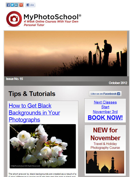 MyPhotoSchool Tips & Tutorials Newsletter 15 | VI Tech Review (VITR) | Scoop.it