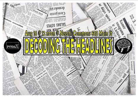 """DECODING THE HEADLINES""  - Media Literacy Brain Storm | Educommunication | Scoop.it"