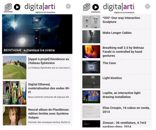 Digitalarti V2: la nouvelle application mobile des arts numériques sur iPhone, iPad et Android - #mediaart