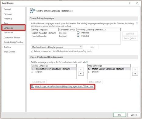 Excel: Changer aisément la langue d'aide et d'affichage – Le CFO masqué | MSExcel | Scoop.it