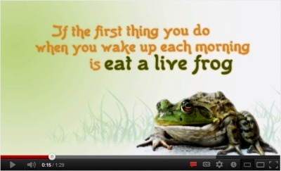 Eat ThatFrog! at the December #GlobalClassroom Chat | Connect All Schools | Scoop.it