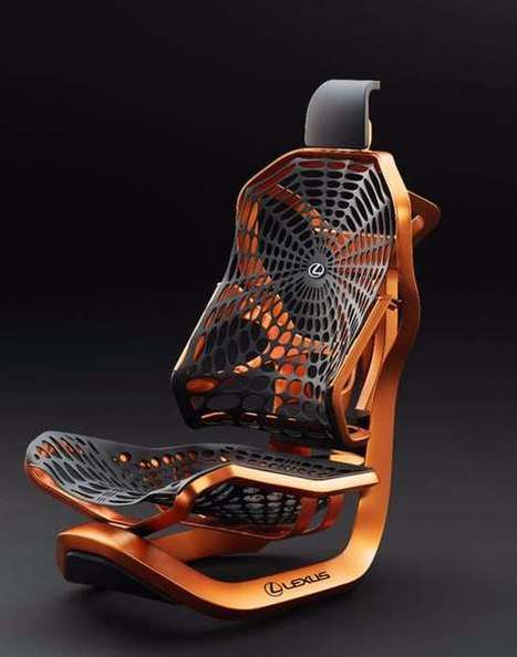 Lexus spins kinetic car seat from synthetic spider silk | Cool New Tech | Scoop.it