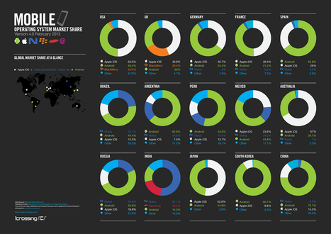 Android dominates worldwide 2013 in mobile market share [infographic] | InfoGraphic Plaza | Scoop.it