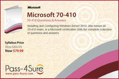 Exam 70-410: Installing and Configuring Windows Server 2012 | Pass-4sure – Total Certification Solution | IT Certification Exam | Scoop.it