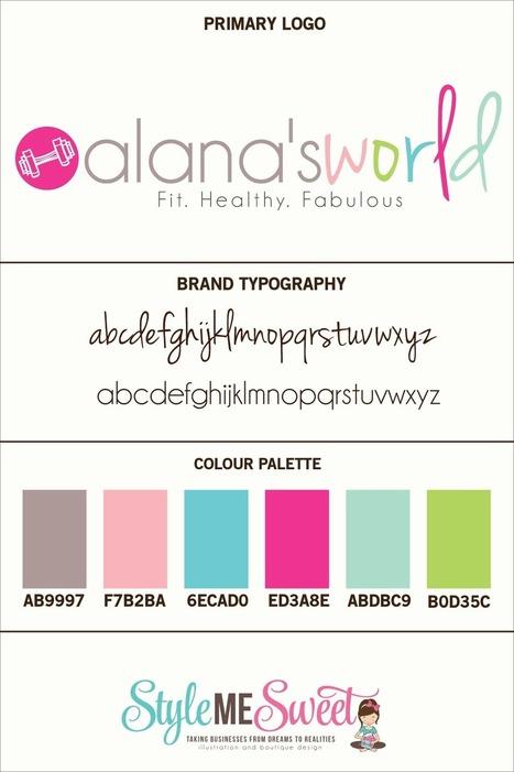 Semi-Custom Logo Design For Alana's World » style me sweet design | Landing page design | Scoop.it