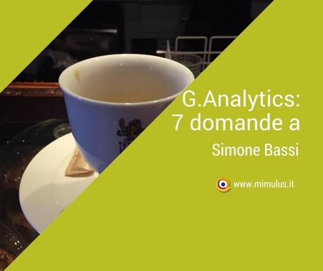 Google Analytics: intervista a Simone Bassi | Digital Friday by Mimulus | Scoop.it