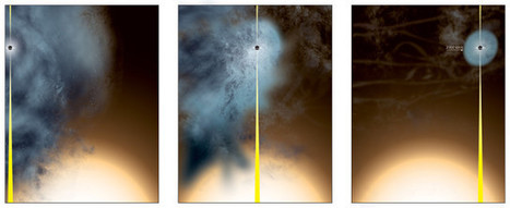 A supermassive black hole left almost naked after a galactic encounter | Astronomy | Scoop.it