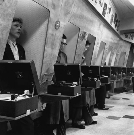 These 1955 record store listening booths were very space age | Navigate | Scoop.it