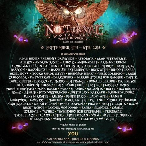 Nocturnal Wonderland reveals huge cast of artists ahead of its 20th anniversary | DJing | Scoop.it