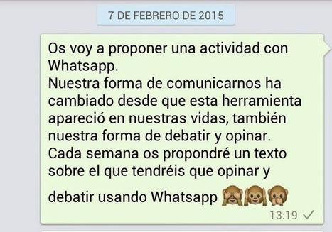 Debatir en tiempos de Whatsapp | Education | Scoop.it