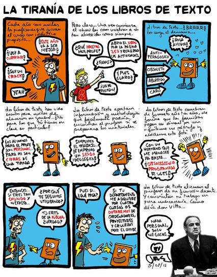 En clase no se dibuja: La tiranía de los libros de texto   A New Society, a new education!   Scoop.it